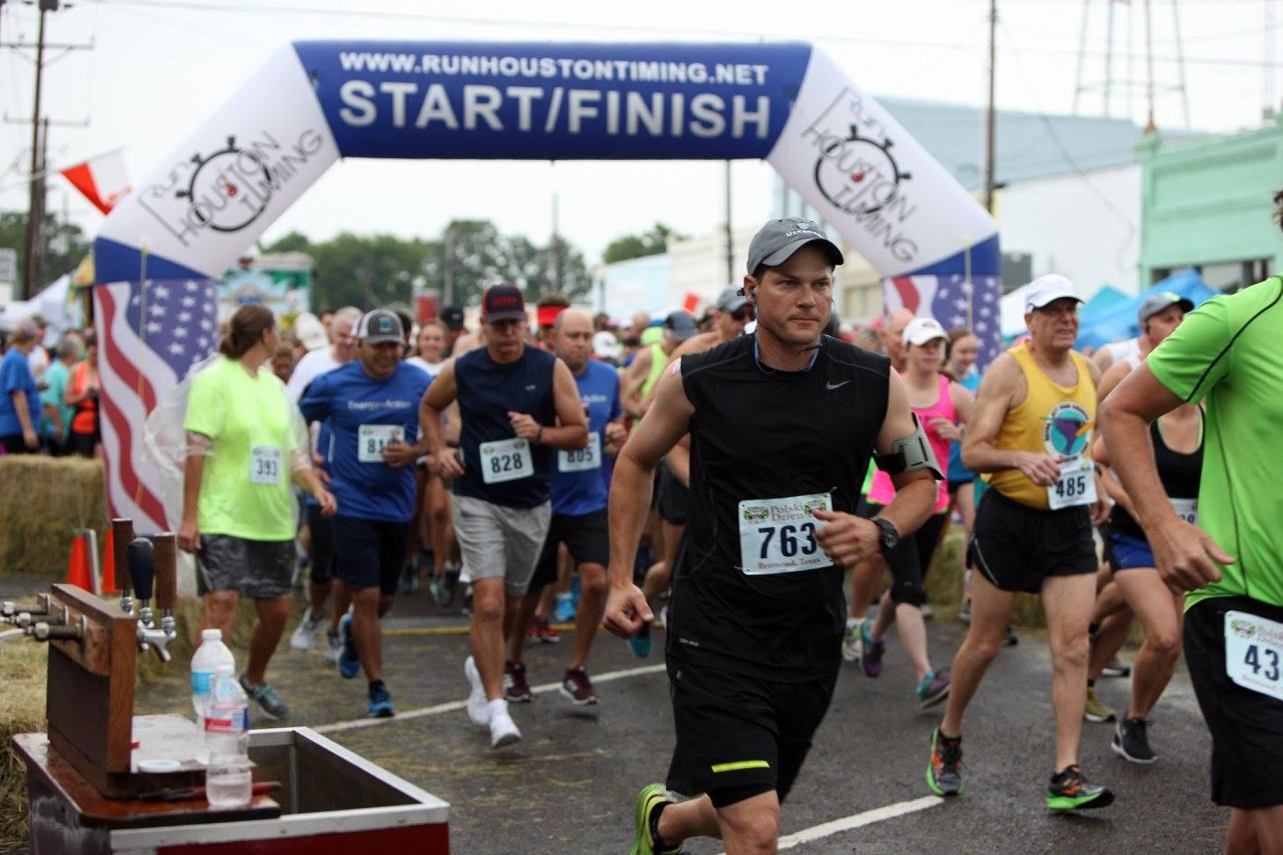 Polish Pickle Run Start 5K Run Walk Bremond Texas